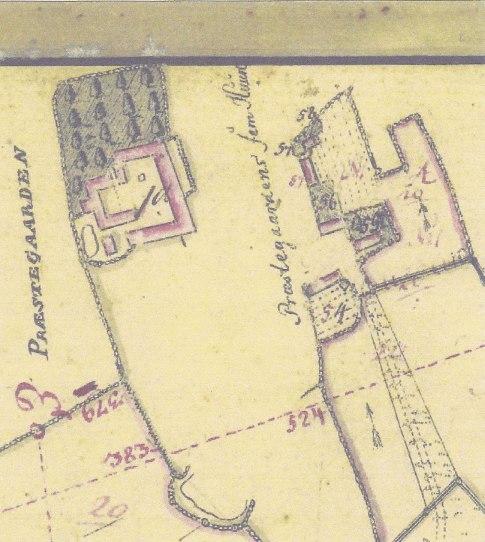 Viskinge med matrikel 54, hvor Jan Dam boede. Efter hans død overtog hans far huset.