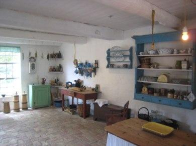 Køkken på den gamle gård, der i dag er Amagermuseet.