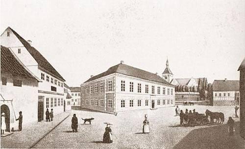 Torvet i Svendborg. Familien Bekkers gård findes ikke længere.