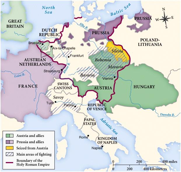 Det sjællandske geworbene regiment var i engelsk tjeneste under den Østrigske Arvefølgekrig, hvor England var allierede medkejserinde Maria-Theresiasaf Østrig-Ungarn.