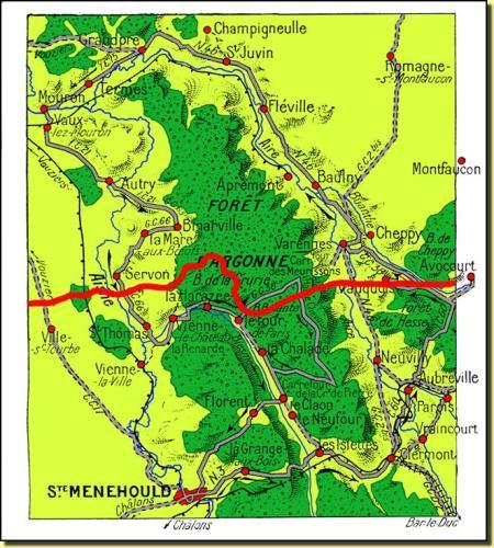 Kamphandlingerne fortsatte omkring Argonne gennem hele krigen.