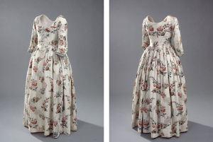 Engelsk kjole. Typisk for en velhavende borgerfrue i 1700-tallet