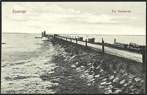 Færgelejet i Vemmenæs omkring 1900