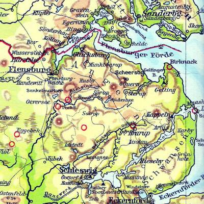 Christina Sophie Lange kom fra Thumby på halvøen Angel i Hertugdømmet Selsvig-Holsten.