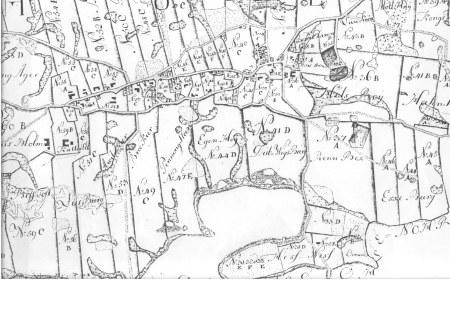 Kort over udskiftningen af Holm i 1775. (www,aslsnissen.dk)