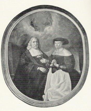 Caspar Christensen Brandt og hans kone Anna Povelsdatter, som han ikke havde børn med.