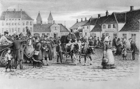 Torvet i Viborg i 1800-tallet