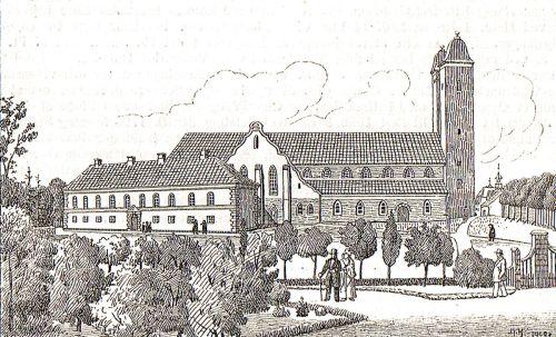 Viborg Domkirke før ombygningen i 1870-dfnd