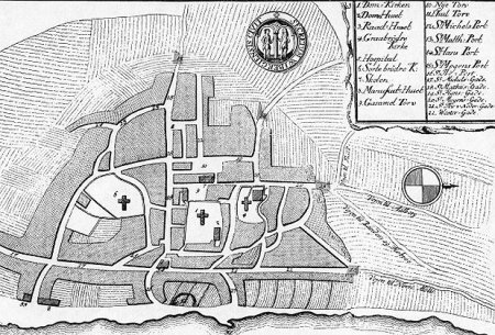 Kort over Viborg