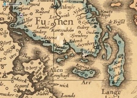 Tåsinge og Øhavet i 1625