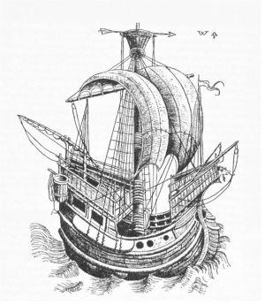 Handels-kogge fra Hansestæderne