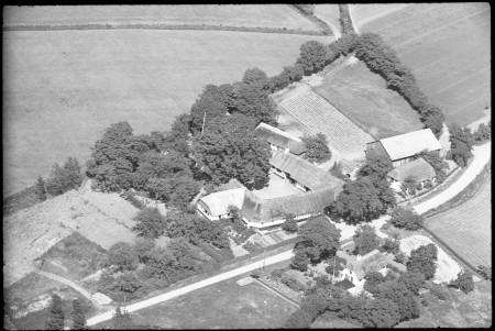 Luftfoto af Skindballegård fra 1939. Foto findes på Det Kongelige Bibliotek
