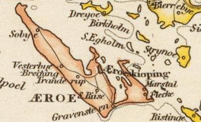 Kort over Ærø