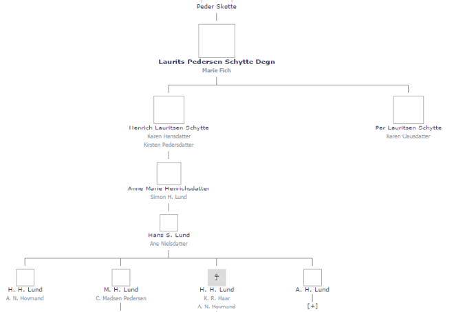 Schytte-slægten (Klik for at forstørre)