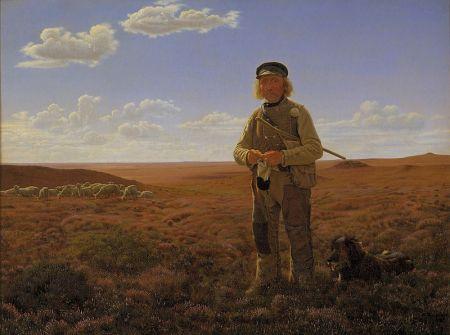 Et maleri af en hyrde.