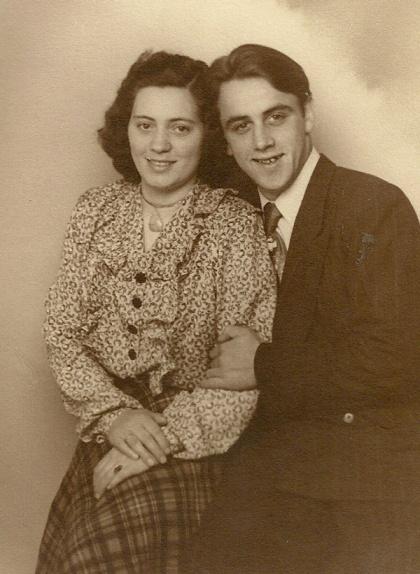 Egon Christensen med sin kone, Fanny.