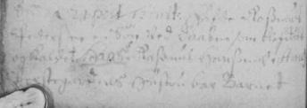 Hans Rasmussen Øxendrups dåb i Kirkebogen nederst på højre side