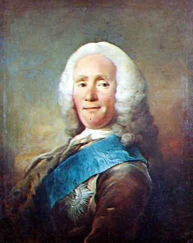 Lensgreve Johan Ludvig Holstein (1694-1763), var blandt andet Oversekretær for Danske Kanceeli og senere Gehejmestatsminister