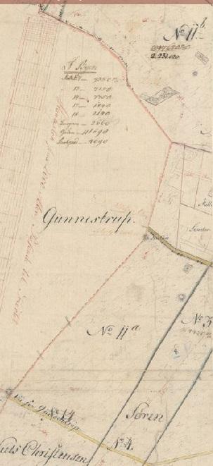 Gården Vester Gundestrup lå i to sogne - Hvilsom og Snæbum.