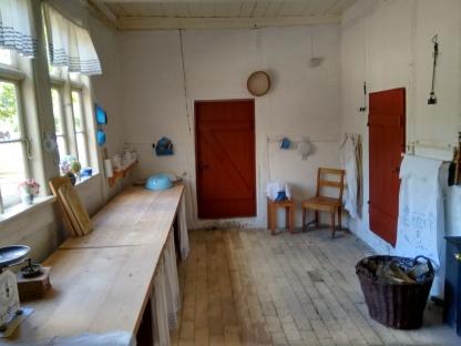 Det meget store køkken i præstegården.