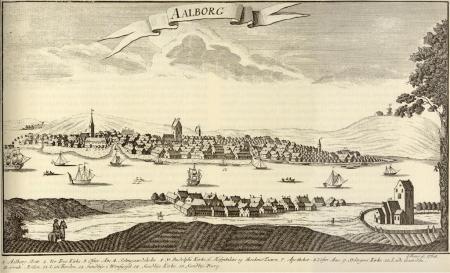 Gammel tegning aaf Ålborg og Nørre Sundby.