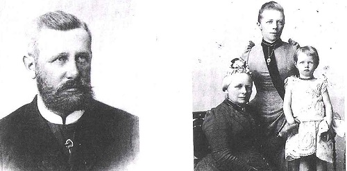 Alfred Færch, datteren Christofine Othillie Færch med sin mor, Frederikke Adolfine Herskind og mormor, Christophine Lassen.