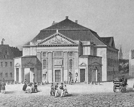 Det Kongelige Teater efter ombygningen i 1837.