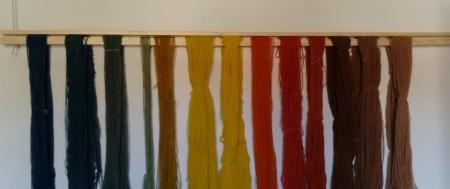 Indfarvet garn